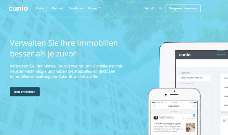 cunio - proptech - frankfurt - immobilienverwaltung